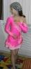 розовое платье пока маленькой фигуристки